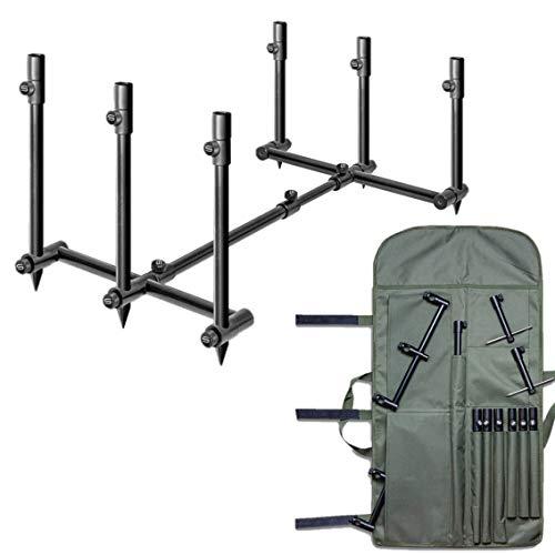Saber Terrain Pod 2/3 Rod Pod Lightweight Adjustable Carp Fishing Buzz Bar