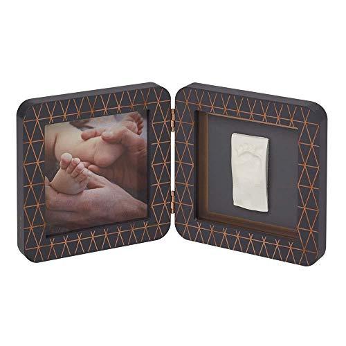 Baby Art 3601092900 MY BABY TOUCH Copper Dark Grey - Cadre 2 volets Empreinte Bébé