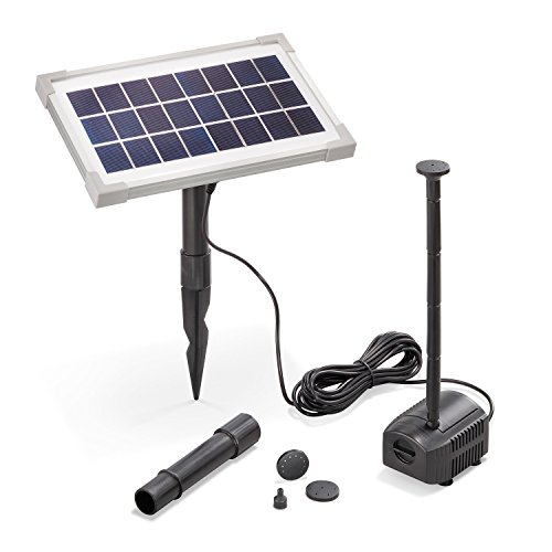 Solar Teichpumpe 3,5 Watt Solarmodul 200 l/h Förderleistung 60 cm Förderhöhe esotec Professional Produktserie Komplettset Springbrunnen Gartenteich, 101907
