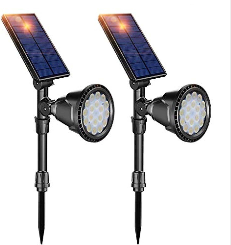 ZRR Solar-Strahler, ultraheller 18-LED-Strahler, 180 ° -Winkel einstellbar, Auto ON Off, IP65 wasserdicht, für Garten, Garten, Rasen, Auenwand und Weg (wei)