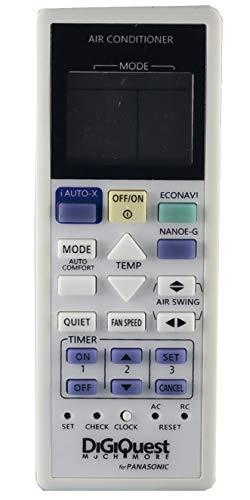 Fernbedienung kompatibel PANASONIC, für Klimaanlagen, Klimaanlagen, Wärmepumpe, Inverter