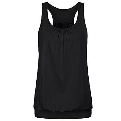 Aniywn Women Workout Tank Top T-Shirt Solid Loose Yoga Sport Racerback Vest