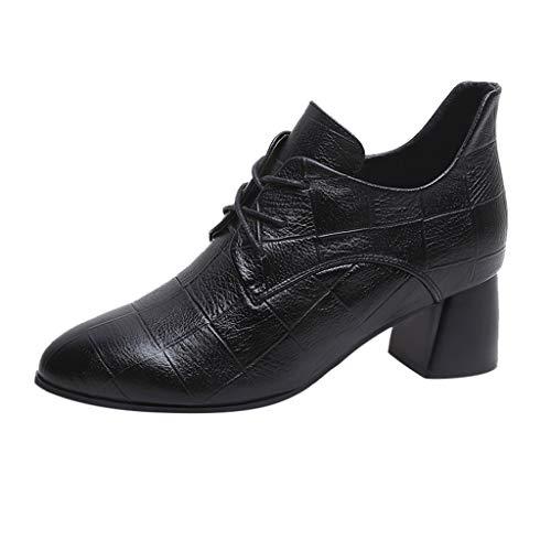 Shenye Einzelne Schuhe der Frauen High Heels Arbeiten Stiefeletten Fashion Freizeit Short Lace-Up...