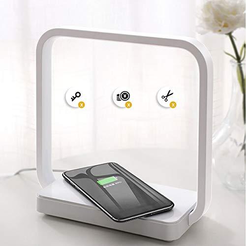Mdsfe Lampada da tavolo telefono cellulare ricarica Wireless lampada da comodino Camera da letto casa lampada Creativa semplice lettura Moderna - UE