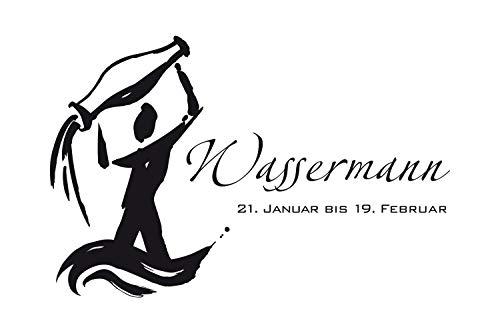 universumum muurtattoo sterrenbeeld waterman eff012 muursticker wandsticker woonkamer slaapkamer zelfklevend 60 x 40 donkerbeige