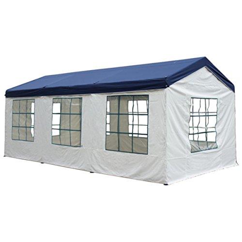 silvertree Pavillonset Tim | 3 x 6 m | inkl. 4 Seitenteile | blau/weiß | Pavillon | Wasserabweisend | Air-Vent-Schutz | Gartenzelt | Festzelt