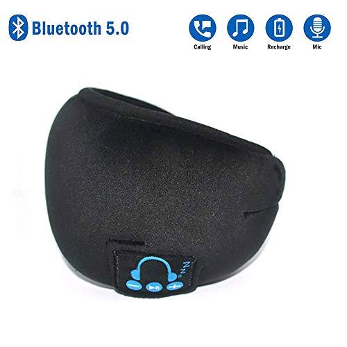 Mhwlai Bluetooth 5.0 Schlaf Augenmaske, Augen Intelligente Musik Siesta Mädchen Augenmaske Reise Musik Maske Brille Bluetooth-Headset Kann Sprechen,C