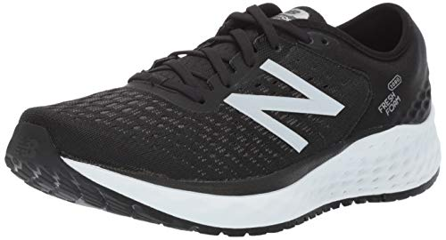 New Balance Men's Fresh Foam 1080 V9 Running Shoe, Black/White, 8 M US