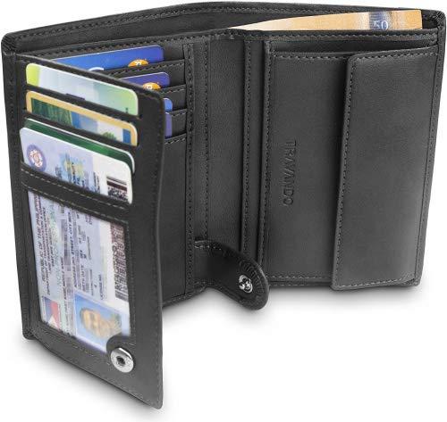 𝗖𝗔𝗣𝗔𝗖𝗜𝗗𝗔𝗗 𝗔𝗠𝗣𝗟𝗜𝗔 - La cartera grande ofrece 11 compartimentos para tarjetas y dos compartimentos visual para DNI. Es suficientemente grande para guardar tarjetas, billetes y monedas 𝟮 𝗖𝗢𝗠𝗣𝗔𝗥𝗧𝗜𝗠𝗘𝗡𝗧𝗢𝗦 𝗣𝗔𝗥𝗔 𝗕𝗜𝗟𝗟𝗘𝗧𝗘𝗦 + 𝟭 𝗠𝗢𝗡𝗘𝗗𝗘𝗥𝗢 - La inteligente divisió...