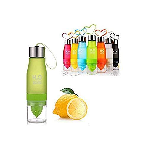 W&X Neueste auslaufsicher Tragbar 650ml Orange H2O-Ei Sports Wasser Flasche Gesundheit Saft Zitruspresse Cup, Eigene Natürliche Fuit infundiert Wasser für gesundes Getränke–Edelstahl Flasche, grün