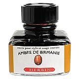J.Herbin 13041T Tinte für Füller, 30 ml, bernsteinfarben -