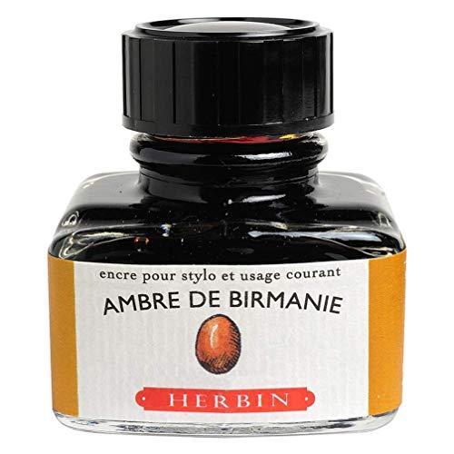 Herbin 13041T - Inchiostro per penna stilografica e roller, 30 ml, Giallo (Ambra di Birmania)