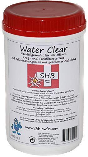 Shb Swiss Water Clear Filtre Granules 1000 ML Recharge pour Filtre à Eau In-Ta-Fil, Laurastar, Claris, Granulés aussi pour Humidificateur/Ultrasonique