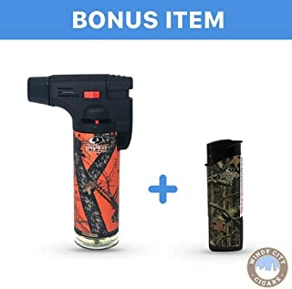 Eagle Mossy Blaze Oak 4in Torch Lighter with FREE Colibri butane can