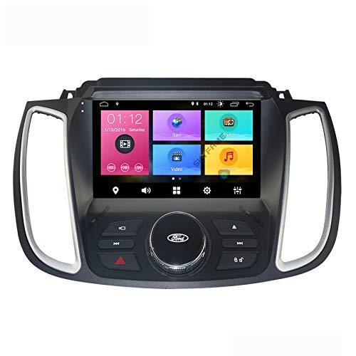 Android 10.0 Car Stereo Double Din Compatible con Ford Kuga 2017-2018 Navegación GPS Unidad principal de 9 pulgadas Pantalla táctil Reproductor multimedia MP5 Receptor de video y radio con 4G WIFI DS