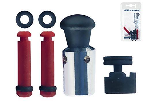 INOXRIV Set Ricambi per Pentole a Pressione ( 1 valvola a peso + 1 valvola di sicurezza + 2 dispositivi di blocco)