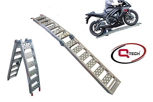 Qtech Rampa para Motocicletas Plegable, Hecha de Aluminio