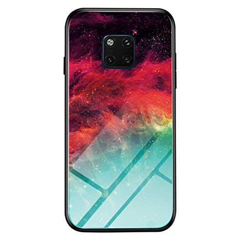 kkkie Kompatibel mit Huawei Mate 20 Hülle Tempered Glass Stoßfest Back Case TPU Bumper Farbverlauf Kratzfest Protective Handyhülle für Huawei Mate 20 Pro Schutzhülle (Bunt, Mate 20 Pro)