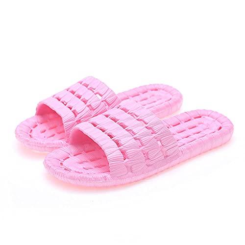 WENHUA Zapatos de Playa y Piscina para Hombre Baño, Zapatillas de Baño Mujer Hombre, 2021 Zapatillas Antideslizantes de Fondo Suave para el hogar Nuevo, Pink_38-39
