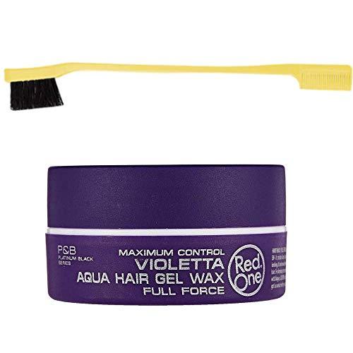 Red one - Cera para el cabello morada full Force 150 ml & cepillo peine para bebé color amarillo longitud 18 cm