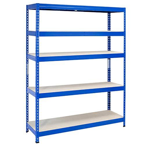Master Regale® Schwerlastregal 180x120x45cm (HxBxT) Steckregal, Tragkraft bis zu 300 kg pro Fachboden. Verwendbar als Kellerregal, Lagerregal, Werkstattregal oder Garagenregal
