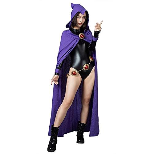 CosFantasy Rachel Roth Raven Cosplay Cloak & Jumpsuit mp004071 (X-Large) Purple