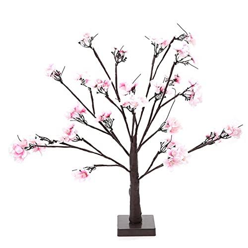 Tyenaza Lámpara de árbol de decoración LED, Interior 24 Piezas Lámpara LED con Forma de Cerezo Lámpara de árbol Artificial para...