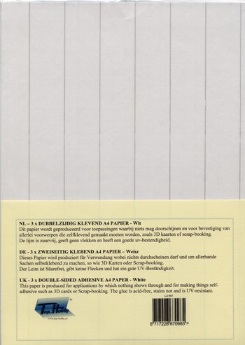 3 Bögen 2-seitige Klebefolie A4 transparent
