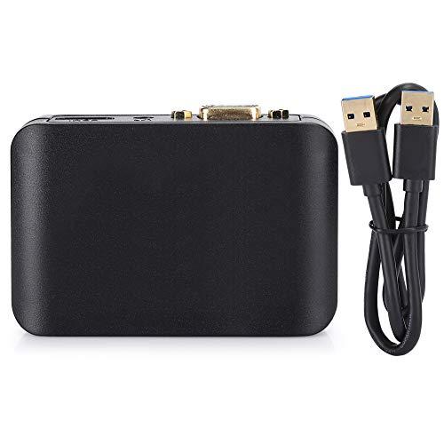 Fein USB 30 zu HDMI VGA Adapter, Gemacht von Abs zum Windows 7/Windows 8/Windows10 / Ios Os 1011-12/10131-6 (Schwarz)