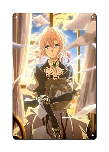 Wonderful Life A Violet Evergarden Poster - Anime Poster Metal Poster 12 x 8 inch (30x20cm)