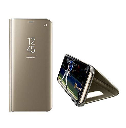 voor Samsung S6 edge Koffer, transparante spiegel flip pc cover shell voor samsung S6 edge(Scherm grootte5.1