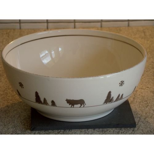 TABLE&COOK Saladier 28 cm 'vache gris taupe' - F406600328D0206