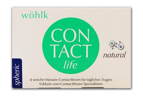 Wöhlk Kontaktlinsen - Contact life spheric - 6er Box (Sph 0.75 BC 8.6)