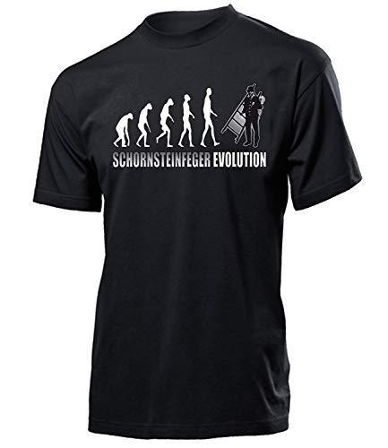 Schornsteinfeger Evolution 4662 Herren Männer Fun Shirt Aufdruck Lustig Spruch Tshirt Geburtstag Geschenk Schwarz M