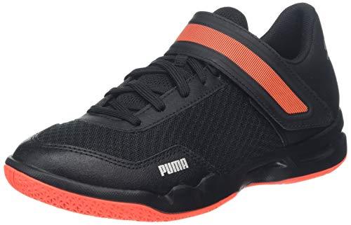 Puma Rise XT 4 Jr Handballschuhe Unisex-Kinder, Schwarz (Puma Black-Silver-Nrgy Red), 37 EU