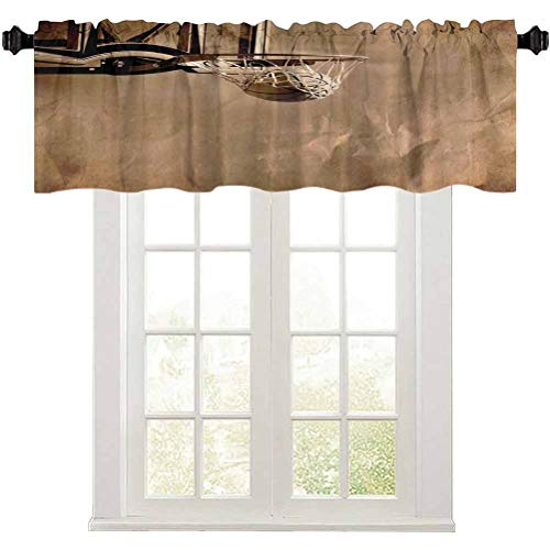 """Curtain Valance, Girls and Boys Prime Sports Fan Fabric Teens College Dorm Decorations of Sports Lovers, 1 Panel 52"""" W x 18"""" L Rod Pocket Valance Curtains for Living Room"""