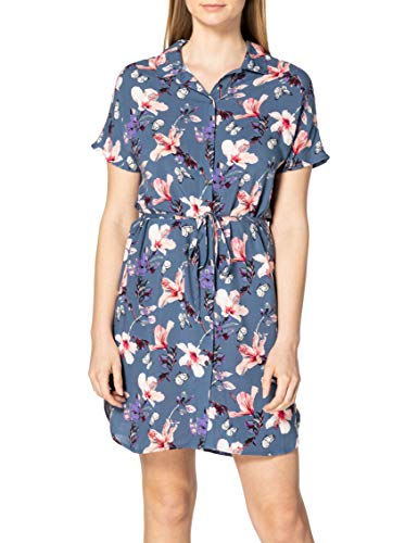 Only Onlnova Life S/S Shirt Dress AOP WVN 7 Vestido, Indigo Vintage, 42 para Mujer