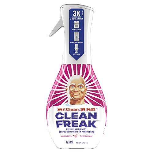 Mr. Clean, Clean Freak Deep Cleaning Mist Multi-Surface Spray, Wild Flower Scent Starter Kit, 1Count, 16 Fluid Oz