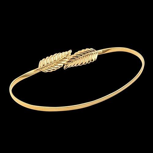 ZUOZUO Cinturón Cinturón de Mujer con Forma de Hoja Cinturón de Metal...