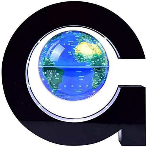 Whinop 4 Pulgadas Mapa Magnetico del Mundo Azul Bola del Mundo Levitacion para La Exhibición de La Oficina de La Escuela en Casa