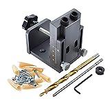 Cortador de fresado de hardware MD21 Kit de herramientas de aleación de bolsillo de aleación de aluminio, con bit de broca de 9 mm de posicionamiento de madera de colocación de la broca herramienta de