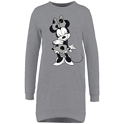 United Labels Minnie Maus Schlafshirt für Damen, Grau, Nachthemd Pyjama Frauen Nachtkleid (M)
