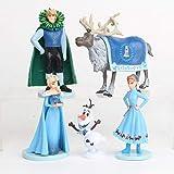 GSDGSD 5 unids/Set Frozen2 Snow Queen Elsa Anna PVC Figuras de acción Olaf Kristoff Sven Anime muñecas figuritas Juguetes para niños Regalos