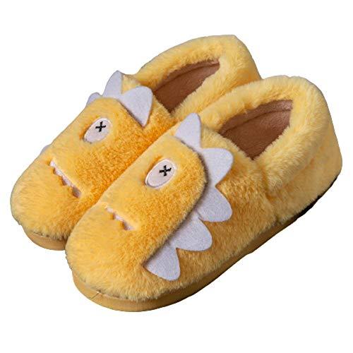 Y-PLAND Zapatillas de algodn para el hogar de Dibujos Animados, Bolso y Zapatillas clidas de confinamiento de otoo e Invierno, Preciosas Zapatillas de algodn para Parejas-7_US4.5-5