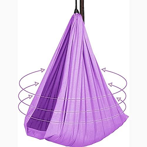 Bambini per Bambini, Oscillazioni al Coperto per Adulti, Elasticità Nylon Hammock Swing, Swing Terapia per Bambini con Bisogni Speciali(Size:150x280cm/59x110in,Color:Viola Chiaro)