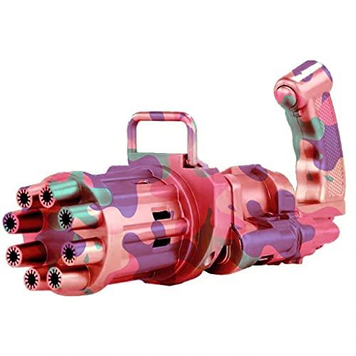 XIWUYA Brinquedo de bolha com 8 furos, brinquedo de bolha, brinquedo interativo para atividades ao ar livre, máquina de bolhas de praia, brinquedo de camuflagem