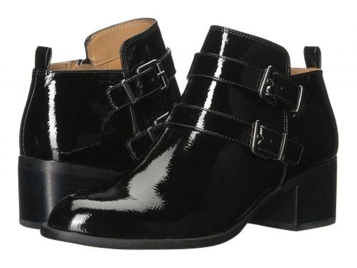 検出寄付折るFranco Sarto(フランコサルト) レディース 女性用 シューズ 靴 ブーツ アンクルブーツ ショート Raina - Black Crinkle Patent [並行輸入品]