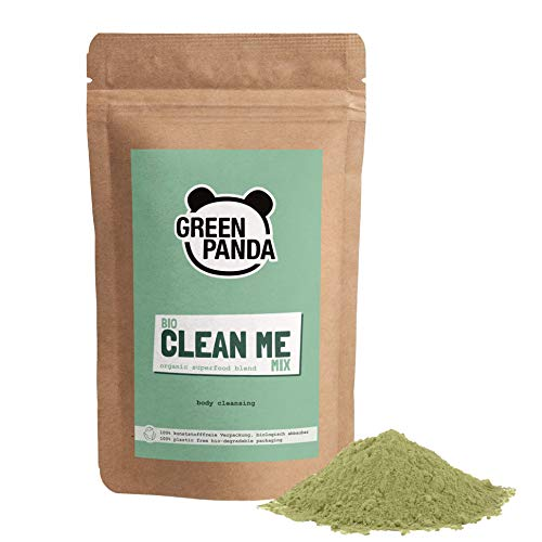 Green Panda® Clean Me Mix, BIO Superfood Pulver mit 7 Superfoods, Gerstengras Pulver, Hagebutte, Smoothie Pulver für grüne Smoothies, Detox, 175gr