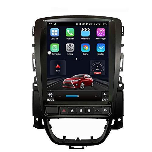 KJHGYU Pantalla Vertical Tesla Estilo Android 9.0 Radio de Coche Compatible Opel Astra J 2009-2015 multimedias del Coche de navegación DVD 4+64GB