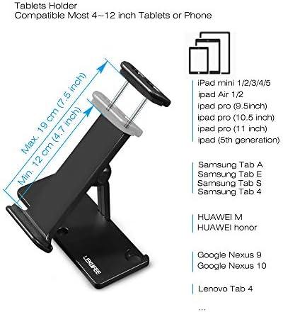 LEKUFEE Support Tablette, Réglage Multi-Angle Portable Support Dock Compatible pour DJI Mavic Mini / Mavic 2 Pro / Mavic 2 Zoom / Mavic Pro Platinum / Mavic Air / DJI Spark Télécommande